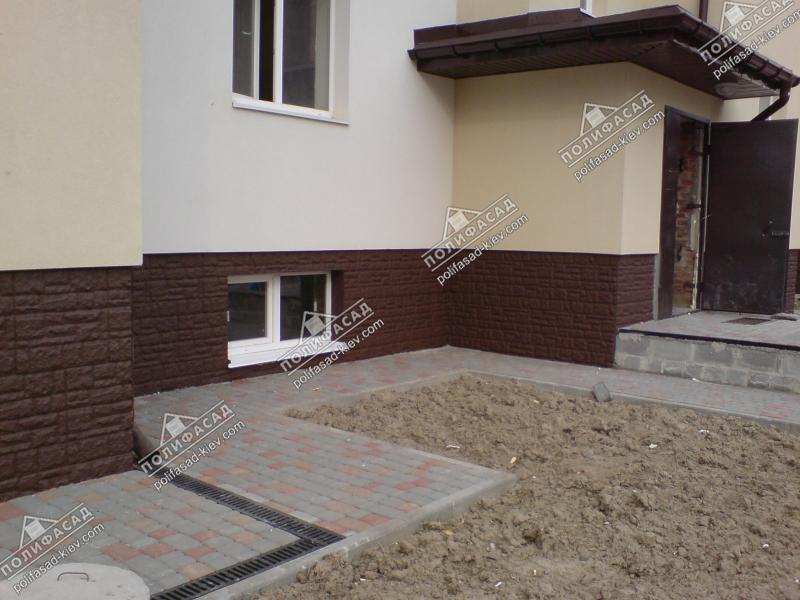 Отделка фасада домов под брус